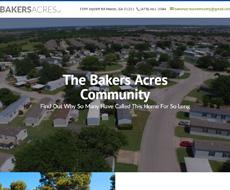 Bakers Acres Website Design