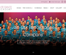 Elite Dance Academy Website Design