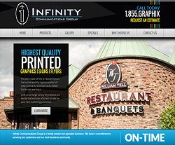 Infinity Communications Group Website Design
