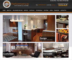 Performance Kitchens Website Design