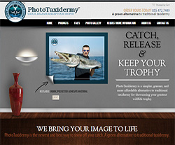 Photo Taxidermy Website Design