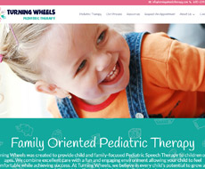 Turning Wheels Therapy Website Design