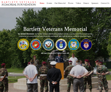 Bartlett Veterans Memorial Website Design