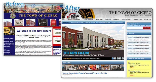 Town of Cicero - Before and After