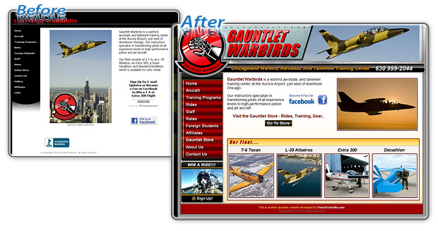 Gauntlet Warbirds - Before and After