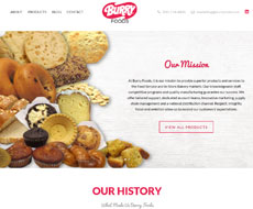 Burry Food Website Design