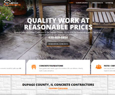 Custom Concrete Website Design