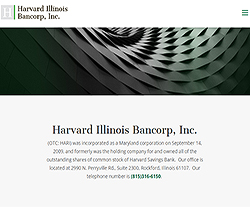 Harvard Illinois Bancorp, Inc. Website Design