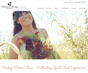 Heritage Prairie Farm Website Design