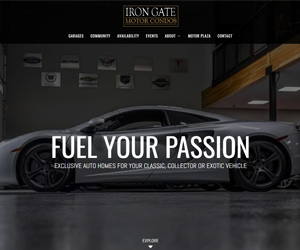 Iron Gate Motor Condos Website Design