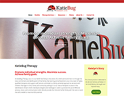 Katie Bug Therapy Website Design