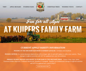 Kuipers Family Farm Website Design