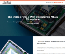 Piezo Microphone Website Design