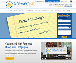 Rapid Direct Mail Website Design