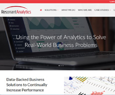 Resonant Analytics Website Design