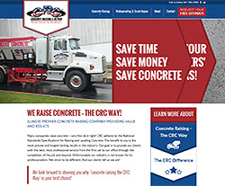 Save Concrete Website Design