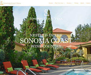 Sonoma Coast Villa and Spa Website Design
