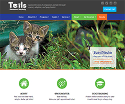 Tails Humane Society Website Design
