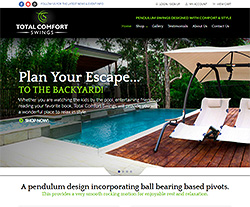 Total Comfort Swings Website Design