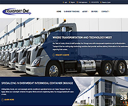 Transport One Chicago Website Design
