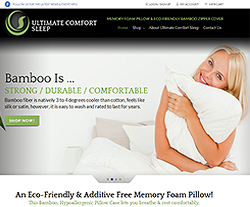 Ultimate Comfort Sleep Website Design