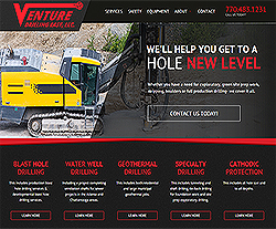 Venture Drilling East Website Design