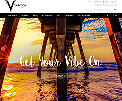Vibration Apparel Website Design