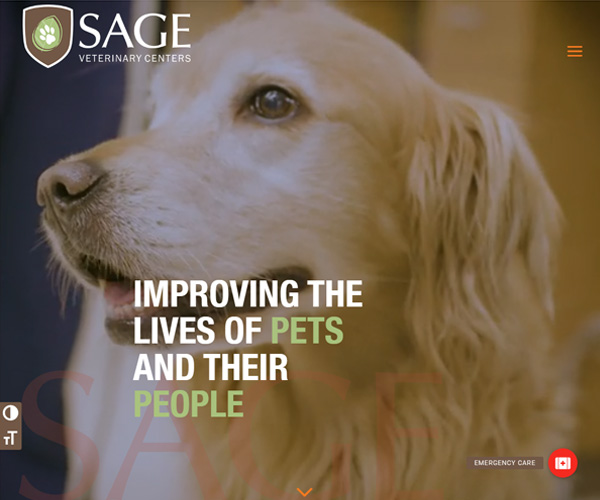 Sage Veterinary Center Website Design