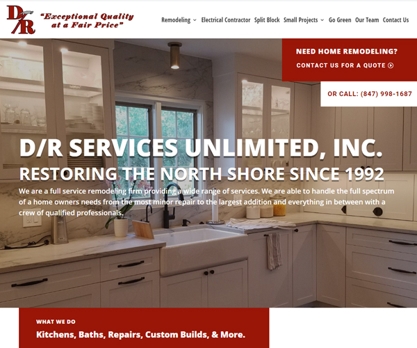 D/R Services Website Design