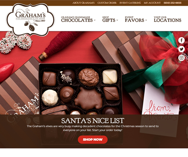 Graham's Chocolate Website Design