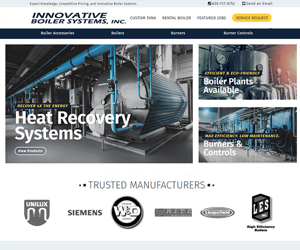 Innovative Boilers Website Design