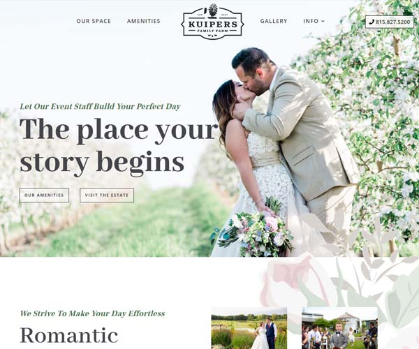 Kuipers Weddings Website Design