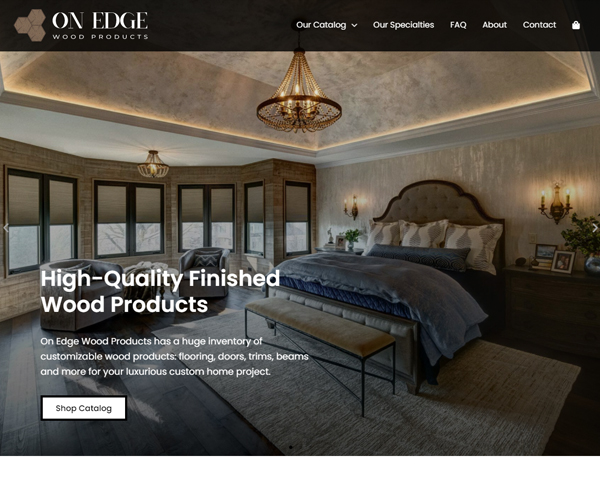 On Edge Wood Products Website Design