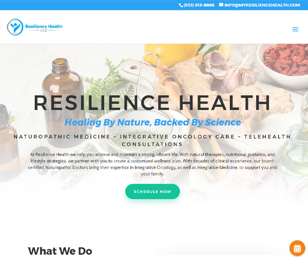 Resilience Health Website Design
