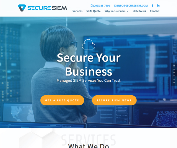 Secure SIEM Website Design