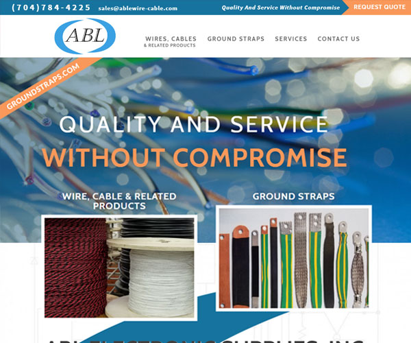 ABL Electronic Supplies Website Design