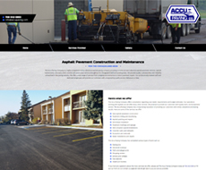 Accu-Paving Website Design