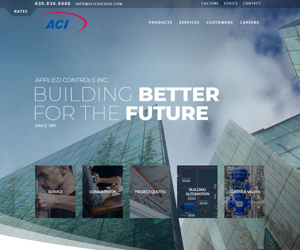 ACI Chicago Website Design