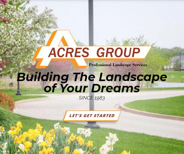 Acres Group Website Design