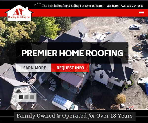 A&E Roofing Website Design