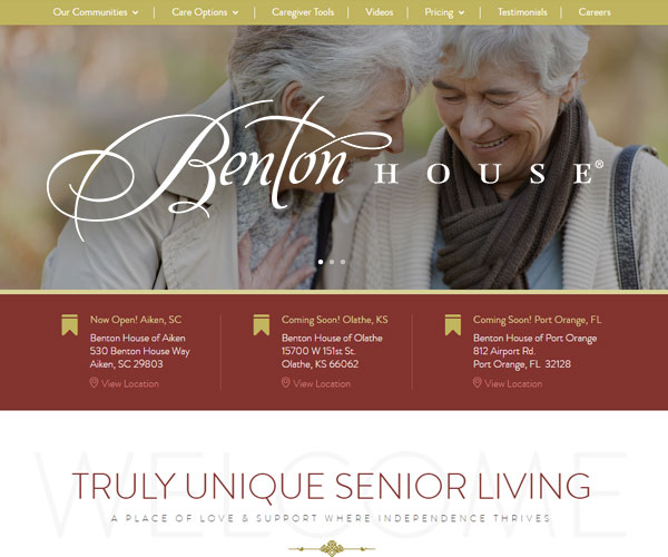 Benton House Website Design