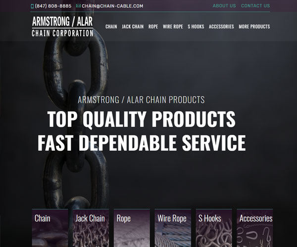 Artmstrong/Alar Chain Corporation Website Design