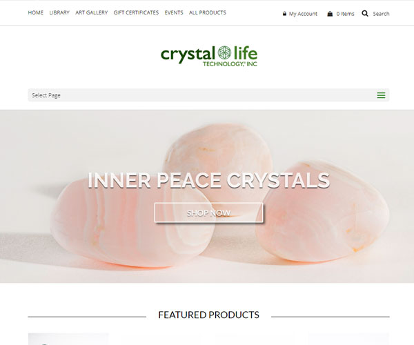 Crystal Life Technology Website Design