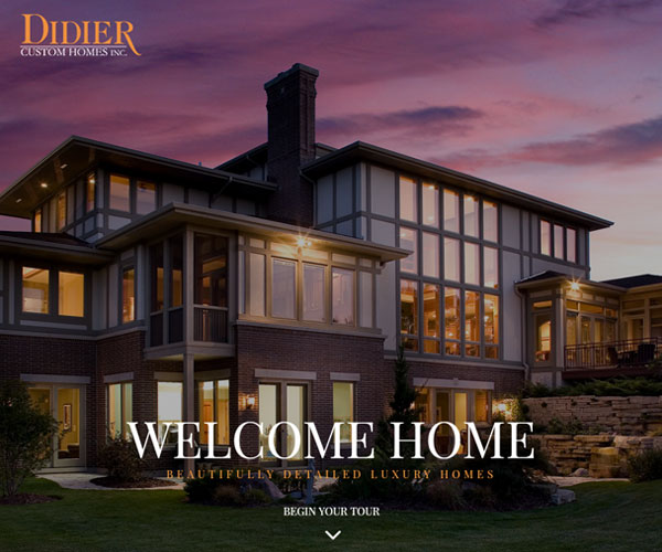 Didier Homes Website Design