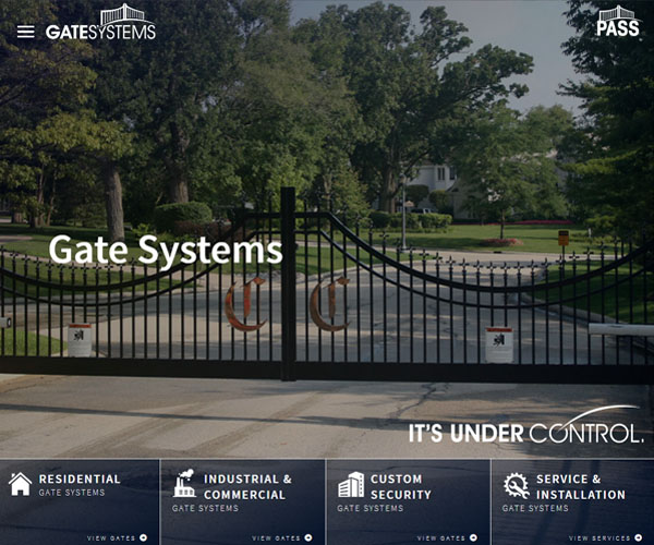Gate Systems Website Design