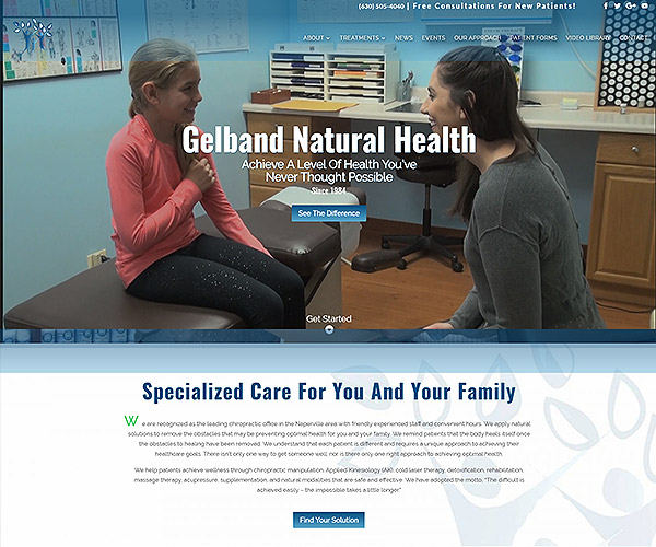 Gelband Natural Health Website Design