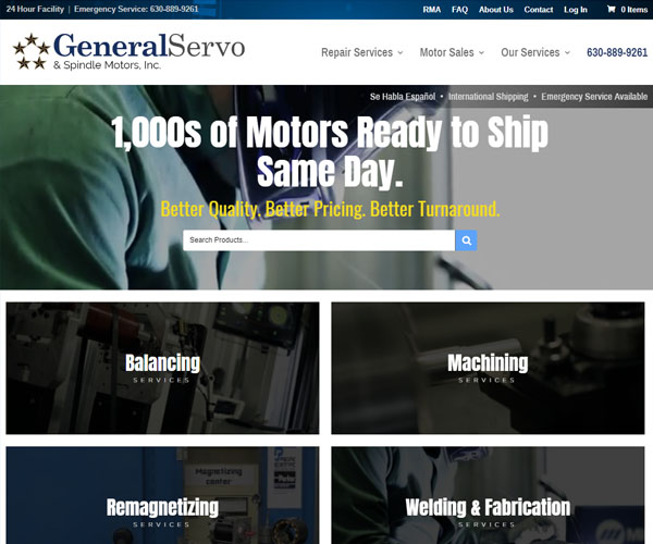 General Servo Website Design