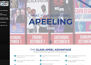 GlassApeel Website Design