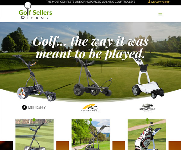 Golf Sellers Direct Website Design