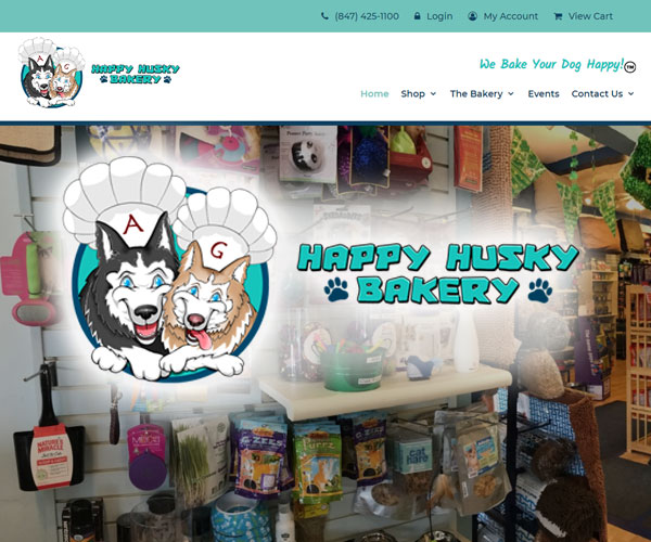Happy Husky Bakery Website Design